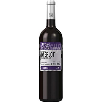 Wine and fly Vino tinto merlot de Francia  Botella de 75 cl