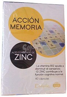 Deliplus Cápsulas acción memoria (alto contenido en zinc) Caja 40 unidades