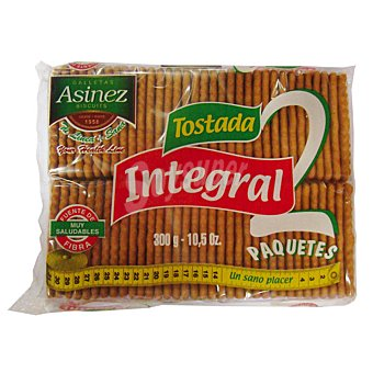 Asinez Galletas tostadas integrales Paquete 300 gr