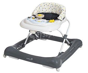 Safety first Andador para bebé, con bandeja extraíble, gris y blanco first