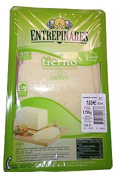 ENTREPINARES Queso barra lonchas tierno de vaca Paquete de 250 g