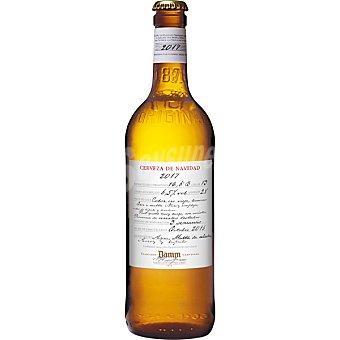 Damm cerveza de Navidad 2015 botella 66 cl