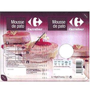 Carrefour Medallón de mousse de pato Pack de 2x55 g