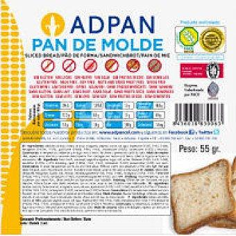 Adpan Pan de molde 2 unid