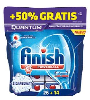 FINISH CALGONIT Lavavajillas máquina QUANTUM Bicarbonato 26 pastillas