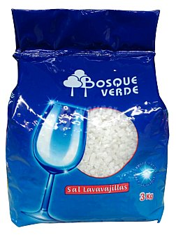 BOSQUE VERDE Sal lavavajillas grano Paquete 3 kg