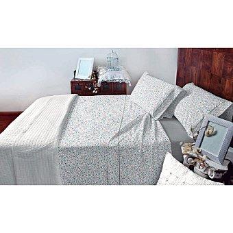 CASACTUAL Sevilla Juego de cama con dibujos de hojas en color gris