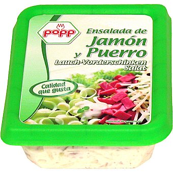 Popp Ensalada de jamón y puerro Envase 200 g