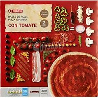 Eroski Base Pizza Tomate 2x165g